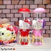 harga Lampu LED 2in1 Hello Kitty Kursi (Lampu Meja Belajar / Lampu Tidur) Tokopedia.com