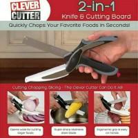 clever cutter / gunting sayur / gunting serbaguna dengan talenan