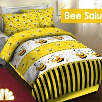 harga Sprei Katun FORTUNA Bee Salur ukuran 90x190X15 Tokopedia.com