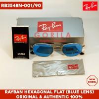 harga [NEW] Kacamata RayBan Hexagonal Flat (Blue Lens) / Sunglass ORIGINAL Tokopedia.com