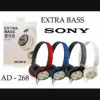 Headphone Sony Ad-268 Extra Bass Earphone Universal / Headset termurah