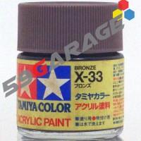 tamiya acrylic 23 ml X33 bronze ( cat gundam model kit )