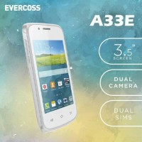 Smartphone Evercoss A33E Android Kitkat LCD 3.5 inch RAM 256MB