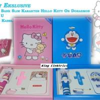 Jual Paket Eksklusif POWER BANK Karakter Doremon Or Hello Kitty Murah