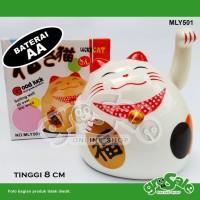 Kucing Hoki Putih Gendut-Maneki Neko- Lucky Cat- Keberuntungan-G032LB