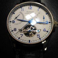 PARNIS AUTOMATIC POWER RESERVE OPEN HEART HOMAGE ANALOG WATCH