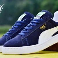 harga Sepatu Casual Puma Suede Leather Navy White Sneaker 40-44 Tokopedia.com