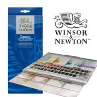Jual Winsor & Newton Cotman Watercolor 45 Half Pans Murah