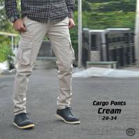 Celana Kargo Panjang Krem | Cream | Putih | Chino | Gunung | Car