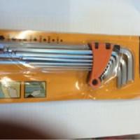 Kunci L Pentol Panjang 9 Pcs 1,5-10mm