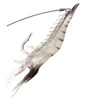 Yingwei Fishing Noctilucent Soft Hook Rubber Lure Luminous Shrimp