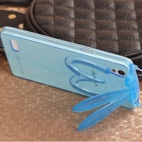 Rabbit Soft Case Clear Oppo Mirror 5 5s A51 Silikon Casing HP Stand 3D