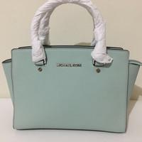 authentic michael kors selma celadon bag (mk selma medium)