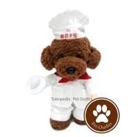 Jual Kostum Chef Baju Anjing Kucing Hewan Koki Halloween Dog Costume Murah
