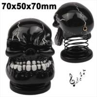 USB Powered Creative Skull Style Mini Metal Speaker