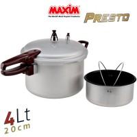 MAXIM PANCI PRESTO 4 LITER 4LT Original Pressure Branded Maxim Murah