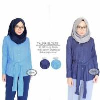Talina Blouse / denim / casual hijab / ootd murah / baj Murah
