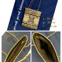 Jual Tas kulit rotan lapis kain khas dayak Murah