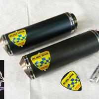 Knalpot Racing Black Devil GP2 CNC Untuk Motor 150cc R15, Xabre, Cbr Dll