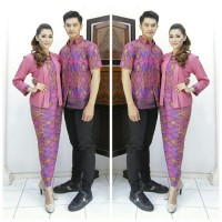 BAJU BATIK COUPLE SARIMBIT GGAMIS MODEL ADIFA PESTA/HIJAB