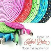 harga Kabel Gepeng Tali Sepatu 3m / 3 Meter Micro Usb / Android / Bb Tokopedia.com