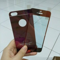 Iphone 5 5s Tempered Glass Warna Mirror Hitam Silver Gold Ungu Orange