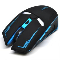 Jual WEYES Iron Man Wireless Mouse Gaming Mute Button Silent Click 2.4Ghz Murah