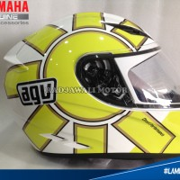 Helm AGV ROSSI GOTHIC 46 WHITE (OFFICIAL) ASLI YAMAHA