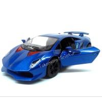 Jual miniatur mobil sport lamborghini sesto elemento biru diecast Murah