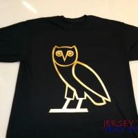 KAOS OVOXO DRAKE YOUNG LEX YOGS T SHIRT OWL GOLD - BAD