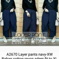 layer pants navy