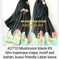 mushroom black maxi