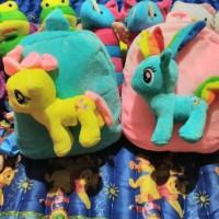 harga Tas Ransel Anak/Tas Boneka My Little Pony Pinky Pie dan Rainbow Dash Tokopedia.com