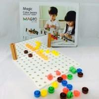 Mainan Edukasi Magic Color Beans Edukatif Anak Kreativitas Pola Gambar