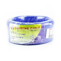 Kabel Listrik Tunggal 1.5mm Supreme NYA Biru (Roll 50M)