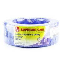 Kabel Listrik Tunggal 2.5mm Supreme NYA Biru (Roll 100M)