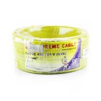 Kabel Listrik Tunggal 1.5mm Supreme NYA Kuning (Roll 50M)