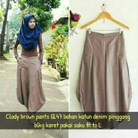 harga Clody brown pants GL47 Tokopedia.com