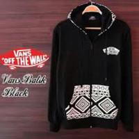 Jaket Sweater Hoodie Jaket Zipper | Jaket Vans Batik warna Black
