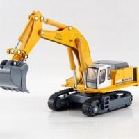Diecast Miniatur Excavator kuning