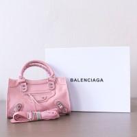 Tas Lady Balenciaga Classic Mini City Pink TBC-007 Good Quality