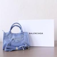 Tas Lady Balenciaga Classic Mini City Blue TBC-006 Good Quality
