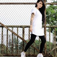 Baju kaos distro hiphop dance putih oversize hip hop cewek cowok