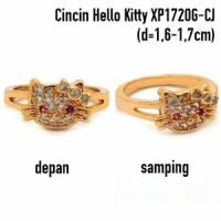 XP1720G-CJ Cincin Hello Kitty Perhiasan Lapis Emas Gold