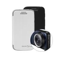Original Samsung Galaxy S4 Zoom Smart Flip Cover Case With Lens Caps