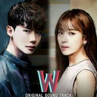 CD Original Soundtrack Ost W Two Worlds Drama Official Korea Album