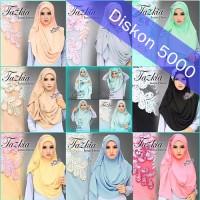 Jual Jilbab Instans /Hijab Tazkia Pashmina Instant 2 Faces Murah