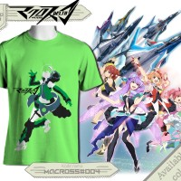 t-shirt Reina Prowler macross delta green baby color