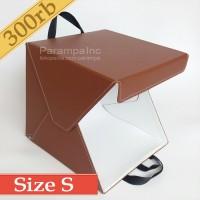 Studio Foto Photo Produk Mini Lipat Portabel Kotak Kotapo Coklat S