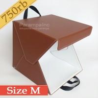 Studio Foto Photo Produk Mini Lipat Portabel Kotak Kotapo Coklat M